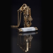 Secret Scroll Time Capsule Pendant (Gold) Filigree