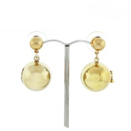 Ball Locket Earrings (Gold)