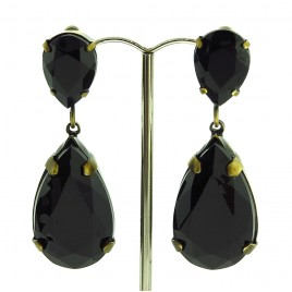 Black Tears Earrings
