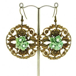 Vintage Filigree Flower earrings