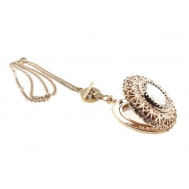 Filigree Fob Watch Locket (Rose)