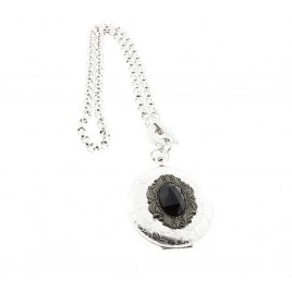 Fob Watch Jewelled Necklace