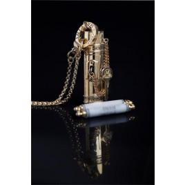 Secret Scroll Time Capsule Pendant (Gold)