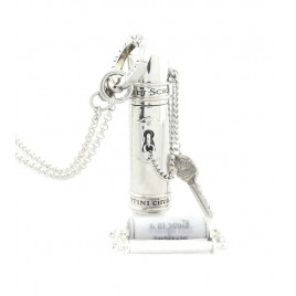 Secret Scroll Time Capsule Pendant (Silver)